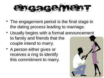 Engagement, Marriage & Honeymoon Powerpoint for FCS Interpersonal Studies