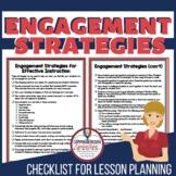 Engagement Strategies Checklist