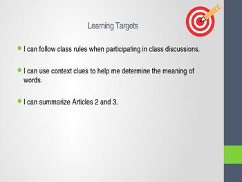 Engageny 5th grade ELA Module 1 Unit 1 Lesson 6