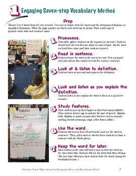 Engaging 7-Step Vocabulary Method