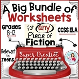 Worksheets and Lessons for ANY Novel or Short Story Middle and High School