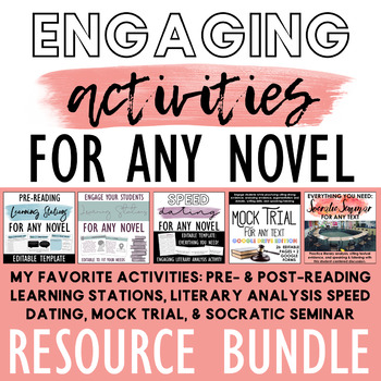 Engaging Activities for ANY Novel: Stations, Speed Dating, Seminar & MORE!
