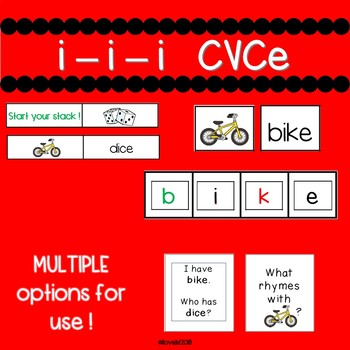Long i CVCe  - Engaging small group or whole group activities !