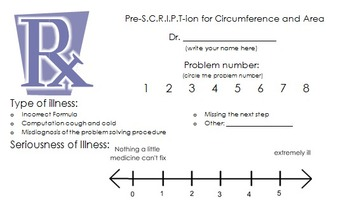 Engaging Circumference and Area of a Circle Prescription activity