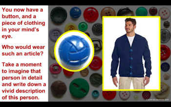 Engaging Creative Writing Activity: Button Button (Developing Character)