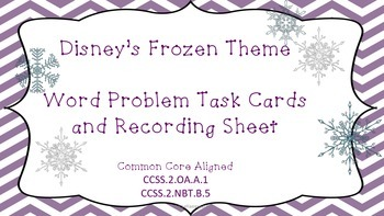 Engaging Disney's Frozen Themed Common Core Aligned Word Problems