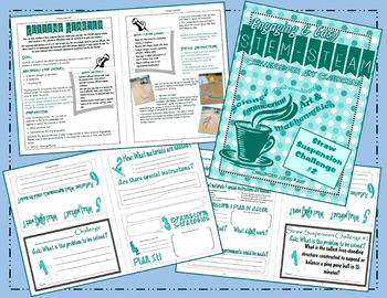 Engaging & Easy STEM/STEAM Straw Suspension Challenges - Set of 3 Activities