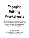 Engaging Editing Worksheets