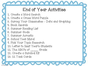 Engaging End of the Year Activities