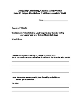 Engaging Fun with Reading Skills using a Holiday Tradition from Finland