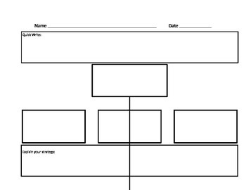 Engaging Graphic Organizer with Higher Order Thinking Skills