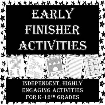 Engaging, Independent Activities for Early Finishers - Perfect for Testing