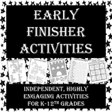 Engaging, Independent Activities for Early Finishers - Per