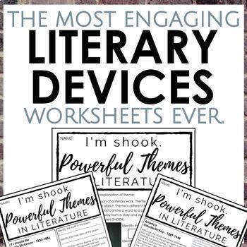 Distance Learning: Literary Devices Worksheets for Secondary ELA