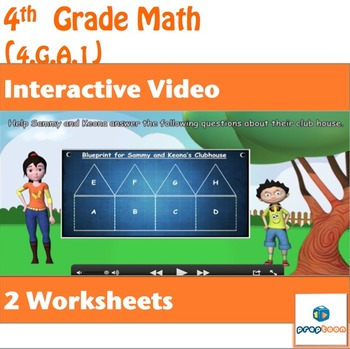 Common Core Math Activity-Identify points,lines,angles in 2D figures-4.G.A.1