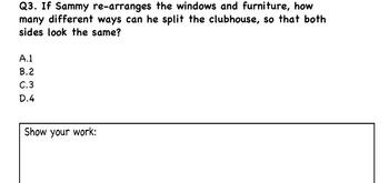 Common Core Math Activity - Line of Symmetry - 4.G.A.3