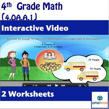 Common Core Math Activity -Multiplicative Comparison- 4.OA.A.1
