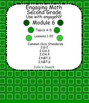 Engage NY Math (Eureka) Module 6 Complete for Second Grade Smart Board