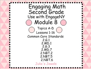 Engage NY Math (Eureka) Module 8 for Second Grade Smart Board