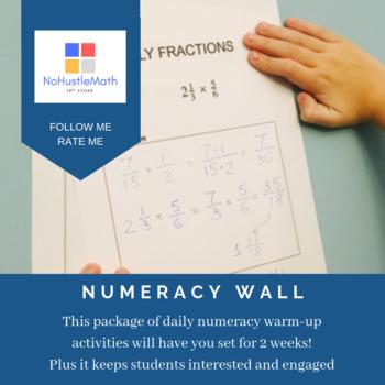 Engaging Math: Numeracy Wall