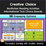 Nonfiction Analysis and Informational Text Unit: Activities and Choice Boards