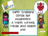 Engaging Multi Subject (Math, Language, Health)- Create a Cereal Box Project