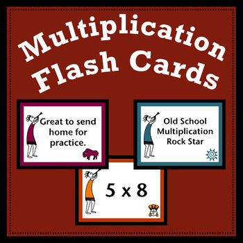 Engaging Multiplication Flash Cards 1-12 and Tracking Form