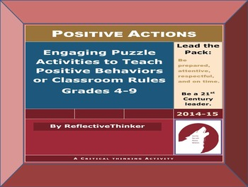 Engaging Puzzle Activities to Teach Positive Behaviors or