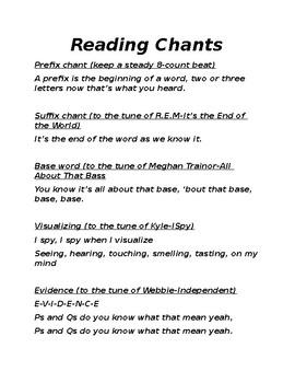 Engaging Reading Chants