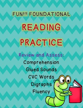 Engaging Reading Practice for Glued Sounds, CVC Words, Comprehension & Digraphs!
