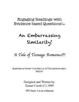 Engaging Readings with Evidence Based Questions, #3: An Embarrassing Similarity