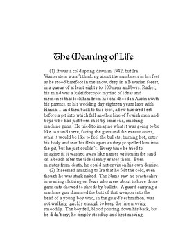Engaging Readings with Evidence Based Questions, #5: The Meaning of Life