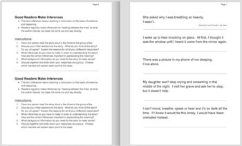 Engaging Scary Flash Fiction Close Reading Inferential Reading Group Activity