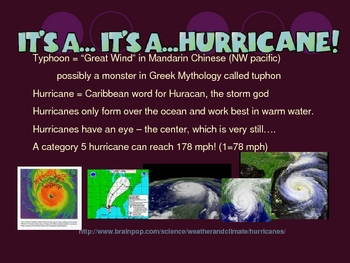 FUN & Engaging Severe Storms & Natural Disasters Powerpoint Review