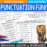 Punctuation Activities and Sentence Types Mini-Unit