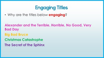 Engaging Story Titles