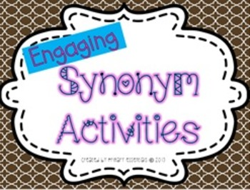 Engaging Synonym Activities