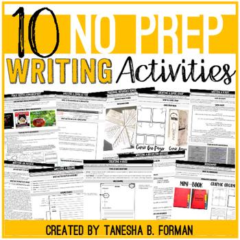 No Prep Engaging Writing Activities