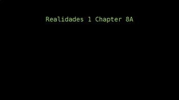 Engaging Writing Game Realidades 1 Chapters 8A & 8B