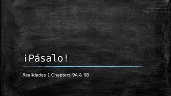 Engaging Writing Game Realidades 1 Chapters 9A & 9B
