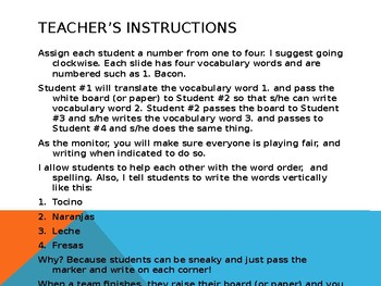 Engaging Writing Game Realidades 2 Chapters 2A & 2B