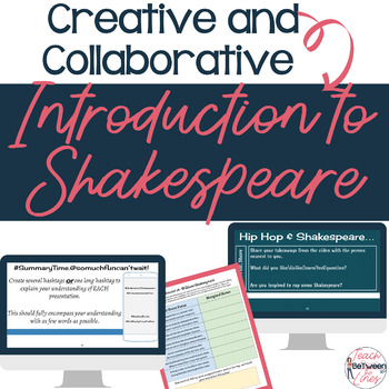 Engaging and Collaborative Introduction to Shakespeare