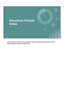 Engaging and Effective Classroom Discussion Protocol Slides