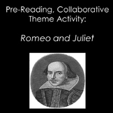 Engaging and Interactive Romeo and Juliet Pre-Reading Lesson: Theme Activity