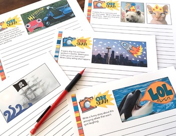 80 Writing Prompts / Writing Center / Writing Task Cards / For Google Classroom