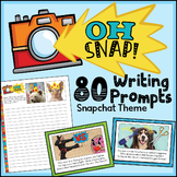 80 Daily Writing Prompts with Pictures - Writing Task Cards- Google Classroom