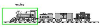 Clip Art: Engine-Caboose Line Leader Jobs