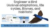 Engineer A Bird (Animal Adaptations, Biomes, Habitats, Life Cycles, Dichotomous)