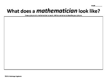 Engineer, Scientist, Mathematician - Formative Assessment