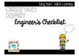 Engineer's Checklist Display
